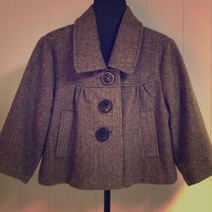 Smart Tweed 3/4 Sleeve Short Jacket